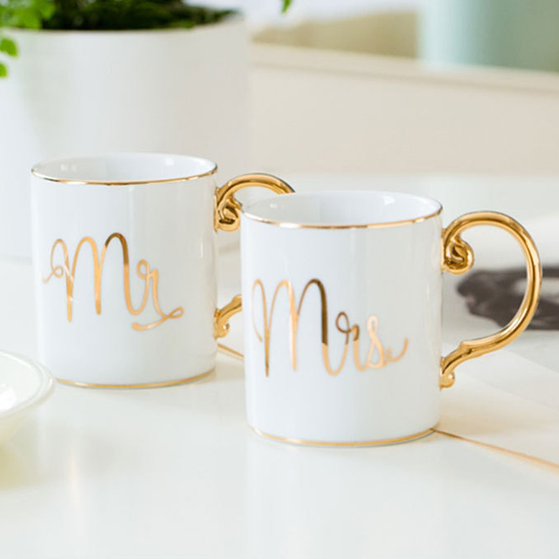 Valentines Day Gift Mr Mrs Coffee Cup Party Favor Anniversary Gift