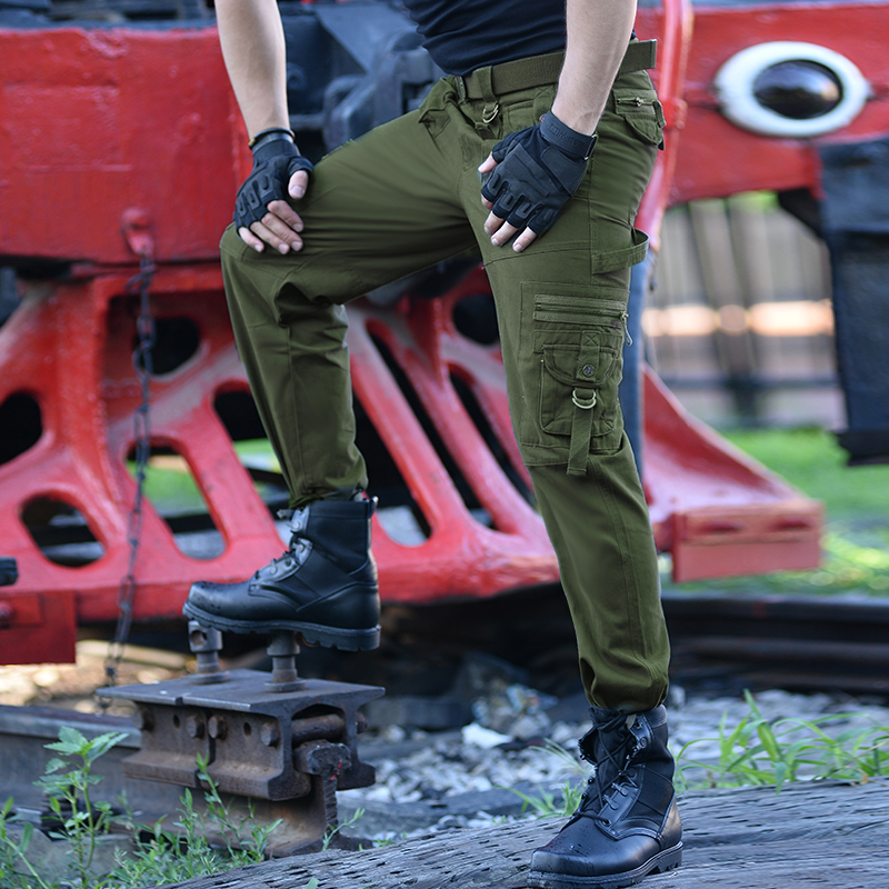 23a246af1d Field Lived Casual Army Joggers Men's Tactical Many Pocket Zipper Cargo  Pants Combat Cotton Straight Male Trousers Green Black-in Casual Pants from  Men's ...