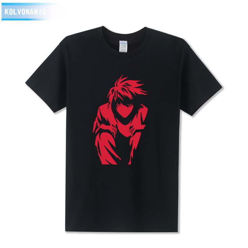 2017 Summer Dress T-Shirts L Death Note Printed T Shirt Down Boy Sweatshirt Coat Casual  ...