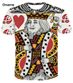 Poker King Queen 3D t shirt tee Men Women Harajuku Hip Hop Bandanna Prints tshirts Male Female Casual t shirts Tees