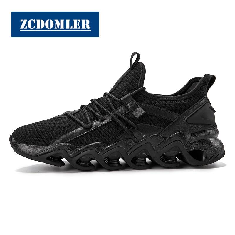 Zcdomler Flyknit De Masculino 2019 branco Up Tenis Respirável Formadores Branco Homens Casuais Dos Designer Lace Preto Top Sneakers Quality Sapatos Masculinos ptxwqrpg
