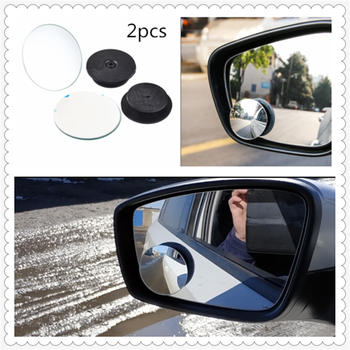 2pcs car motorcycle small round glass blind spot mirror parking assist for BMW E46 E39 E38 E90 E60 E36 F30 F30 image
