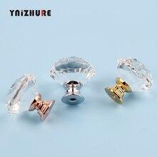 YNIZHURE Алмазная форма Хрустальные стеклянные ручки для шкафа ручки для выдвижных ящиков кухонный шкаф ручки оборудование для обработки мебели