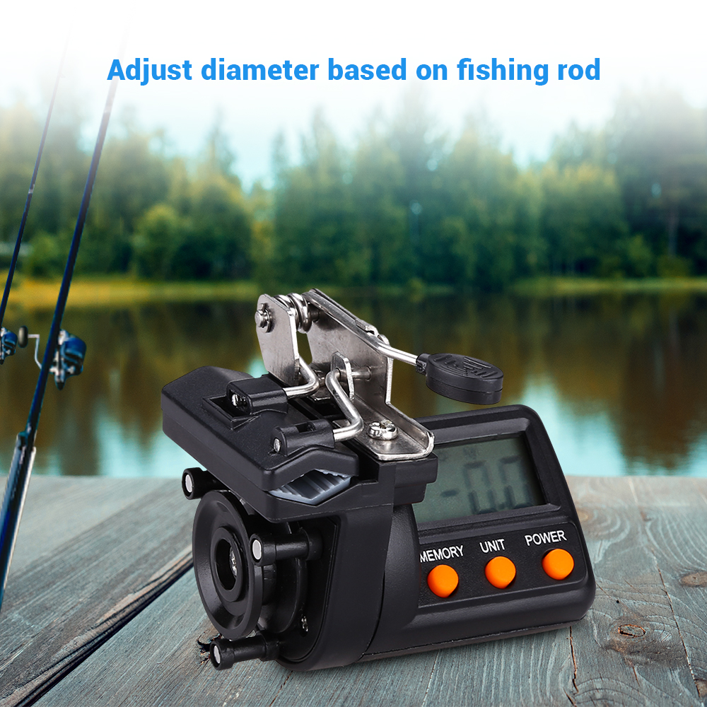 Fishing Line Counter Electronic 999M Digital Display Fishing Line Depth Finder Pesca Carp Pesca Fishing Tools in Counters from Tools