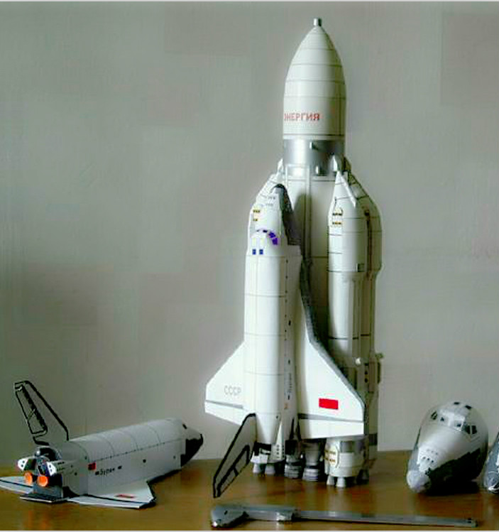 Storm Snow Space Shuttle Energy Number Carrier Rocket Puzzle Handmade Paper Model Rocket 1:96 Scale High 45cm DIY Paper Art
