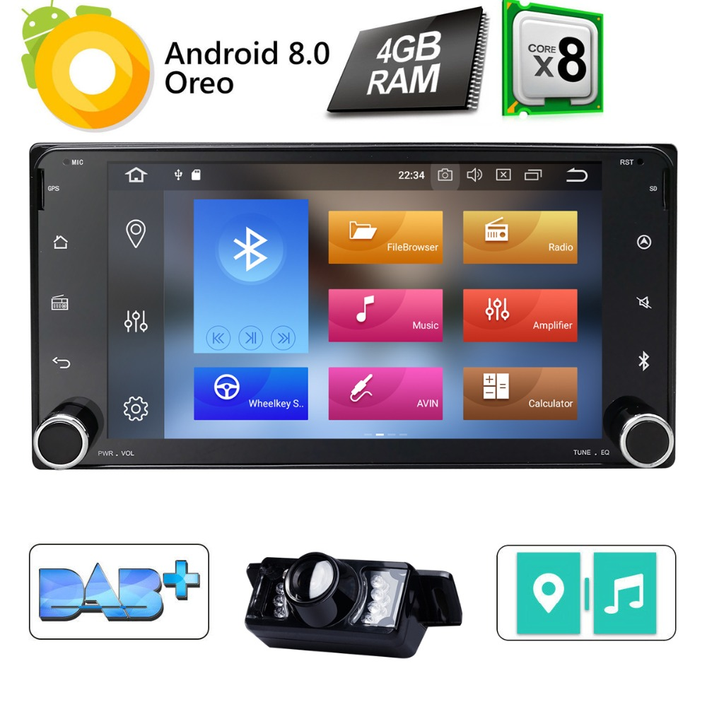 7 2Din Android8 0 Car DVD Player Radio for Toyota Hilux Corolla Camry Prado RAV4 Octa