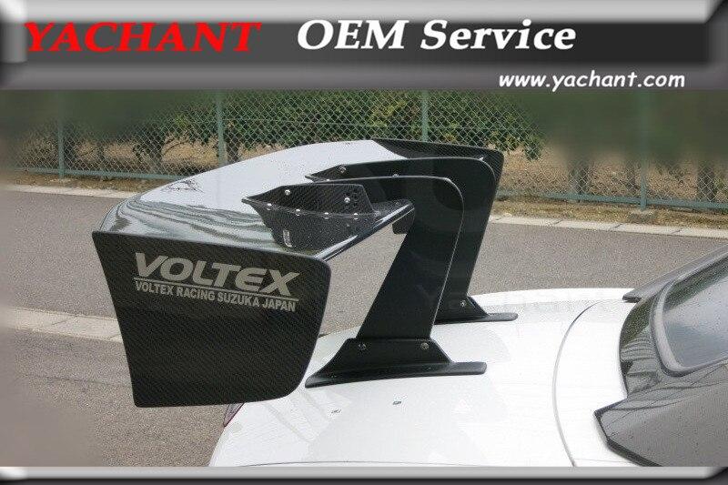 Fibre de carbone GT Wing 1600mm adapté pour EVO 7 8 9 GTR R35 S2000 GT86 universel Voltex Type 7 col de cygne arrière coffre aileron GT Wing