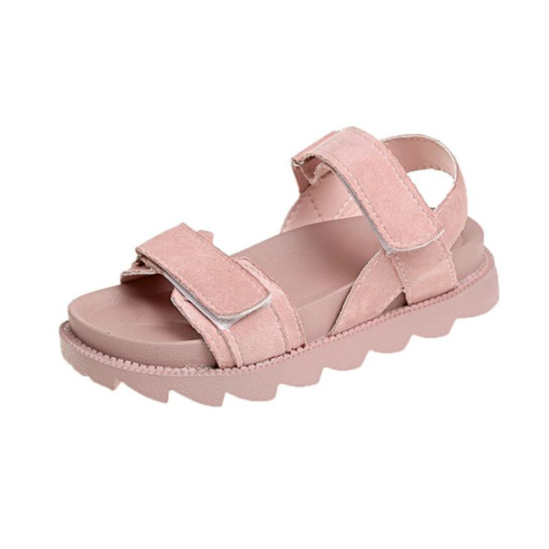 2019 Summer Women Slip On Thick bottom Shoes Flat Sandals  S-202