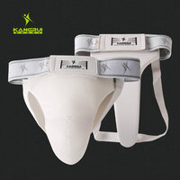 High Grade White Taekwondo Groin Guard Men Women Kick Boxing Karate Muay Thai Wushu Sanda Training