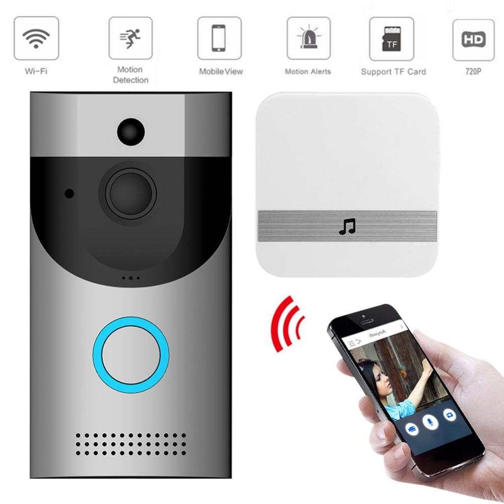 Беспроводной Wi Fi видео дверной звонок камера ip кольцо дверной звонок двухстороннее аудио приложение управление iOS Android батарея питание домашняя система безопасности