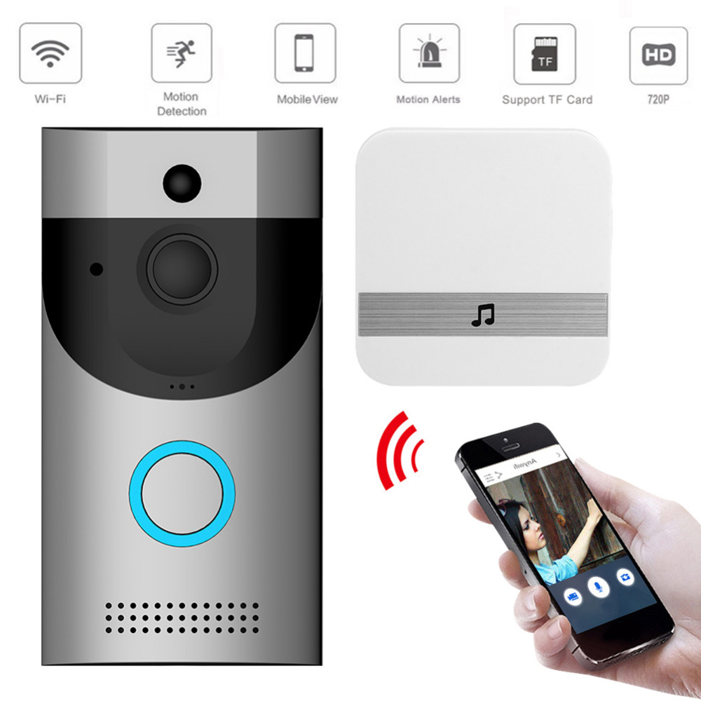 Wireless WiFi Video Doorbell Camera IP Ring Door Bell Two Way Audio APP  Control IOS Android Home Security System (Big Offer 11 11 / Double 11 /