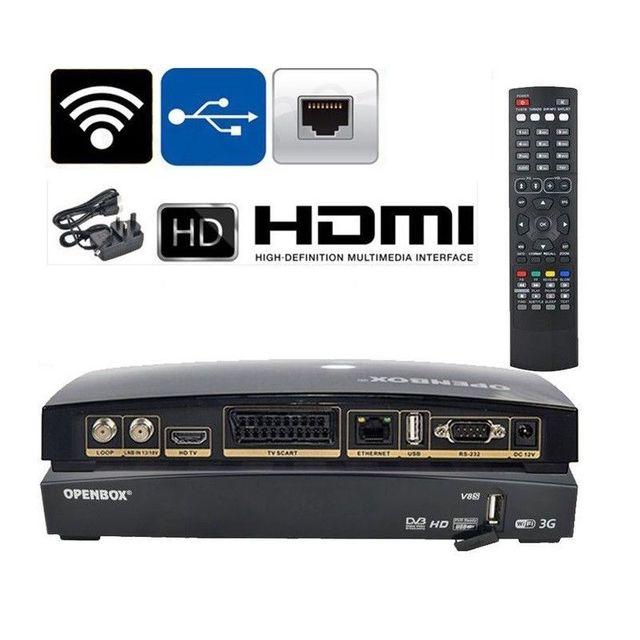 US $59 99 |Openbox V8S Digital Freesat PVR Full HD TV Satellite Receiver  Box dvb s2 support 2xUSB USB Wifi WEB TV Cccamd Newcamd Forecast-in  Satellite
