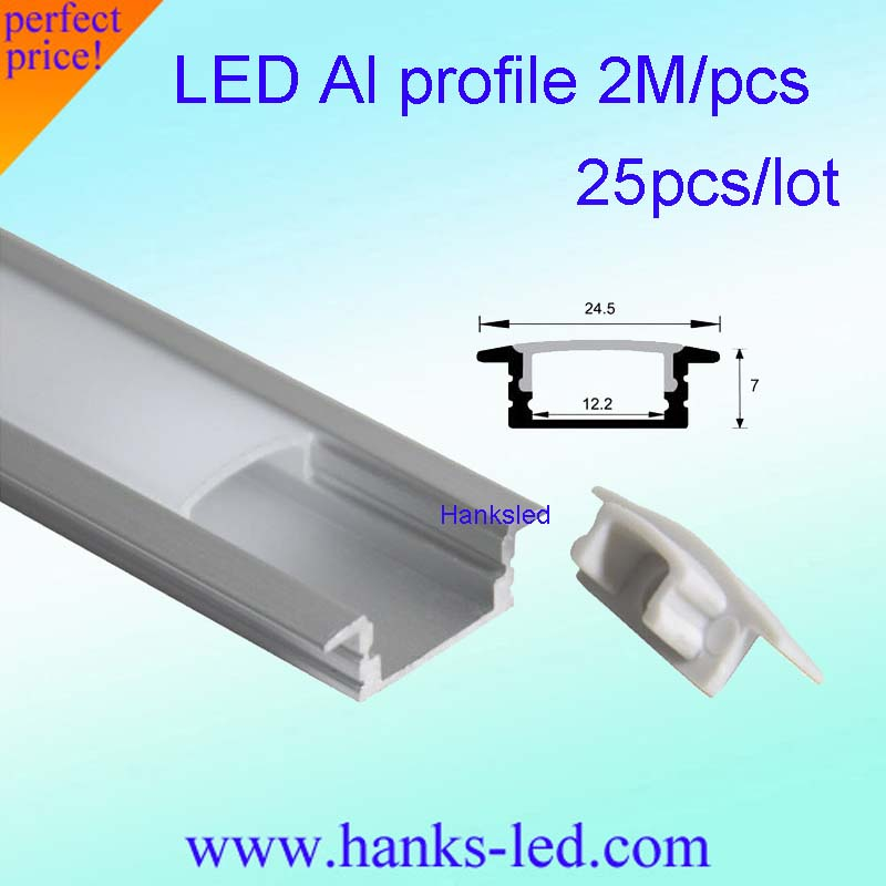 25pcs Lot 80inch 2m Led Bar Light Housing Led Aluminium Profile