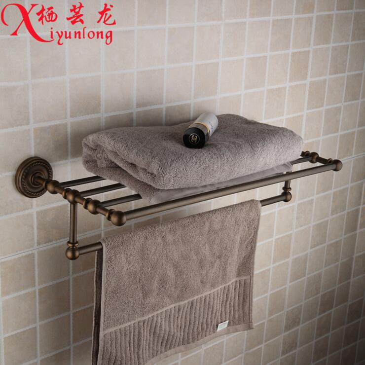 European retro home 100% copper antique twist bath towel rack bathroom toilet laundry rack towel rack placement free shipping