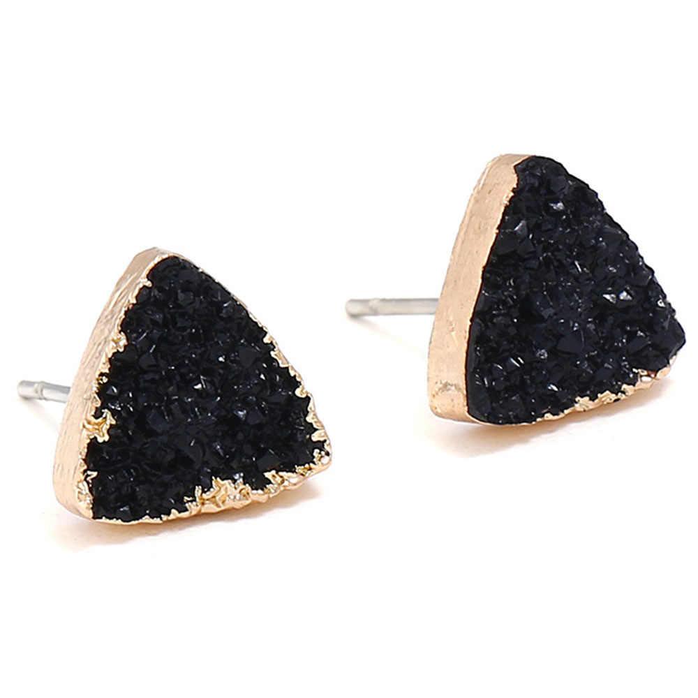 Liuyuwei תכשיטים פשוט גיאומטריה Stud עגילים לנשים בנות מתנה Druzy תכשיטי אבזרים סיטונאי YWEZ0836