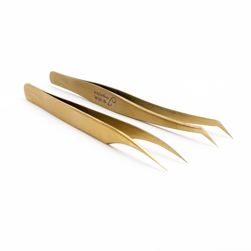 Seashine Profession Volume Eyelash Extension Gold Curler Lash Tweezers Eyelashes Tools Mak