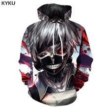 KYKU Brand Tokyo Ghoul Hoodie Men War Sweatshirt Printed Japan 3d Blood Hooded Casual Metal Print Mens Clothing