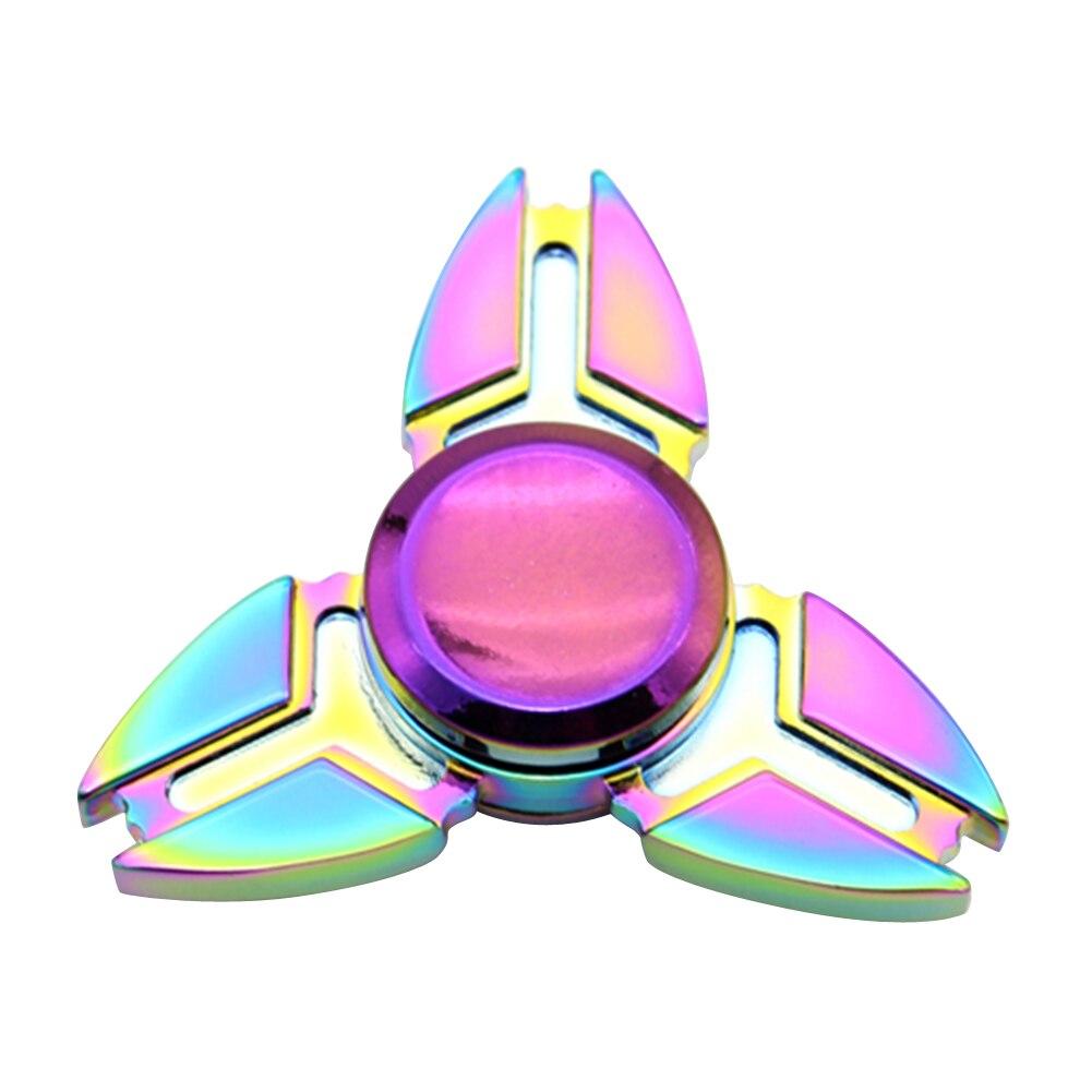 Tri Spinner Fidget Toys Pattern Hand Spinner Aluminum Alloy Fidget Spinner Metal Rainbow Finger Toys