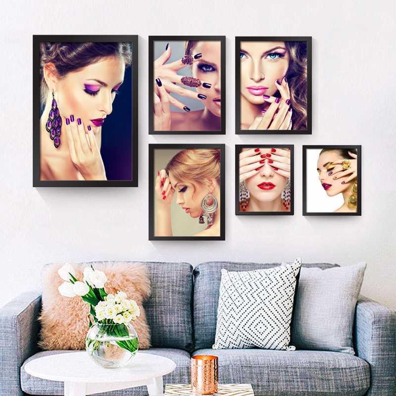 Hd Canvas Prints Picture Spa Nail Salon Store Decor Wall: Aliexpress.com : Buy Unframe Modern Decorative Painting