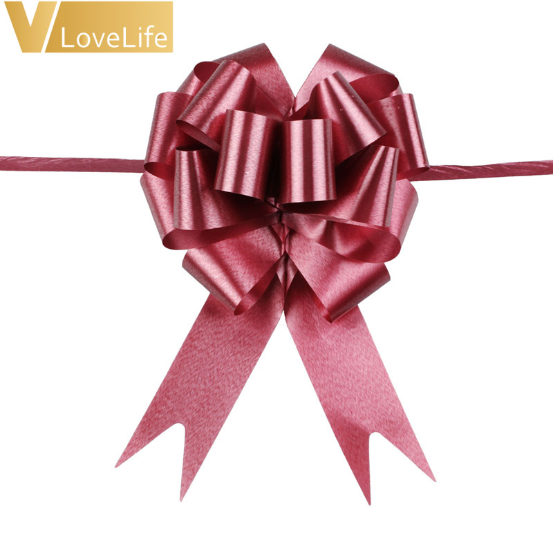 10 x 30mm Pull Bows Red Wedding//Car Decoration