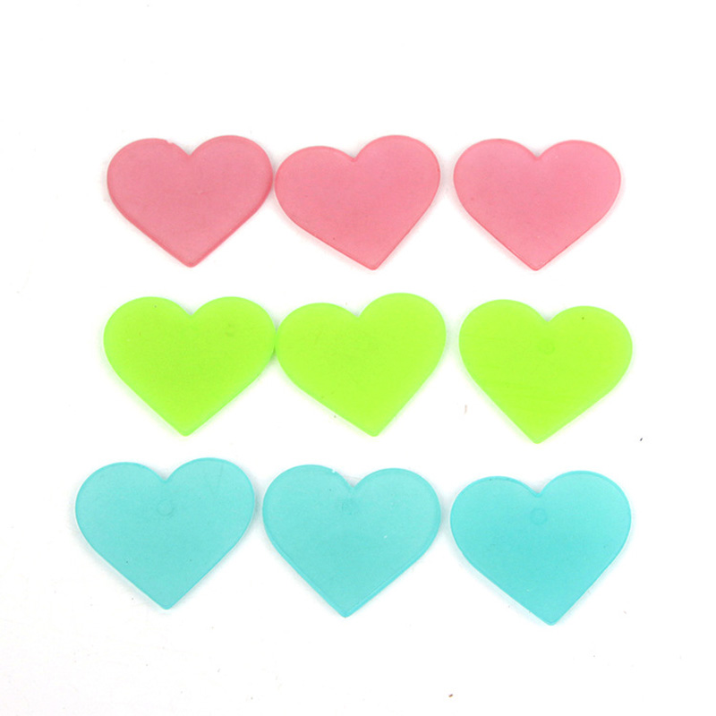 100pcs Luminous Heart-shaped Wall Stickers Glow In The Dark Home Decor Sticker Art Decals For Children's Rooms Colorful Stickers