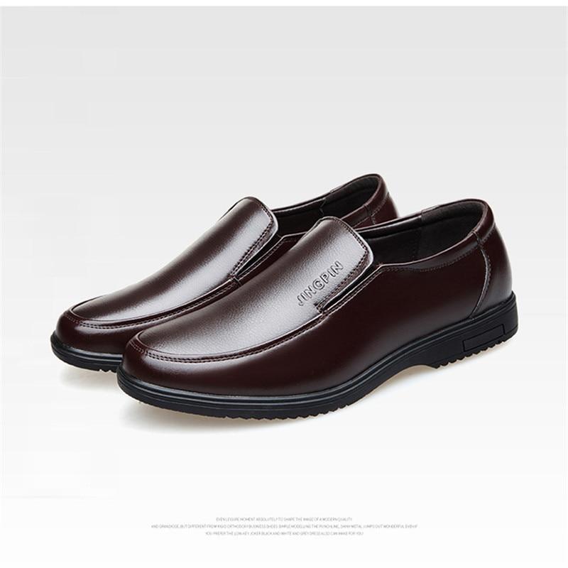 Social Sapatos Preto Couro Primavera Homens Moda chocolate Marca De Mpx8107002 Grife Casual O18CRqw1