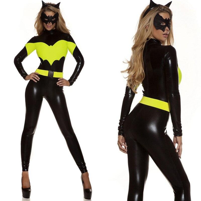 2018 New Halloween Adult Women Superhero Batman Batwomen Batgirl Jumpsuits Cosplay Costumes Fancy Roleplay Dress Party Supplies