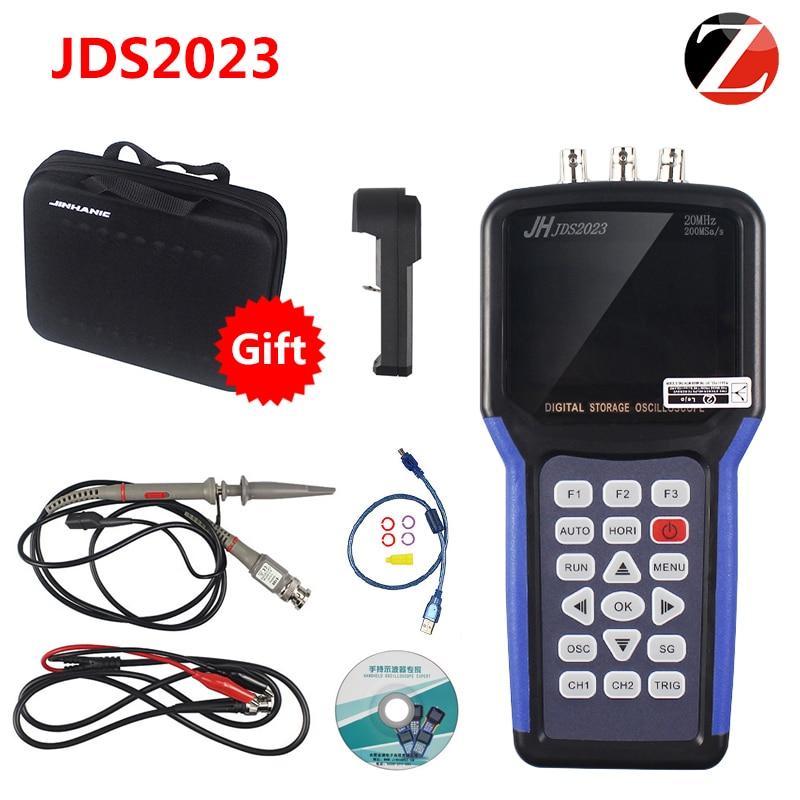 Frete Grátis Jinhan JDS2023 Handheld Osciloscópio De Armazenamento Digital Canais 1 20 MHz osciloscópio AC/DC acoplamento de Entrada NA VENDA