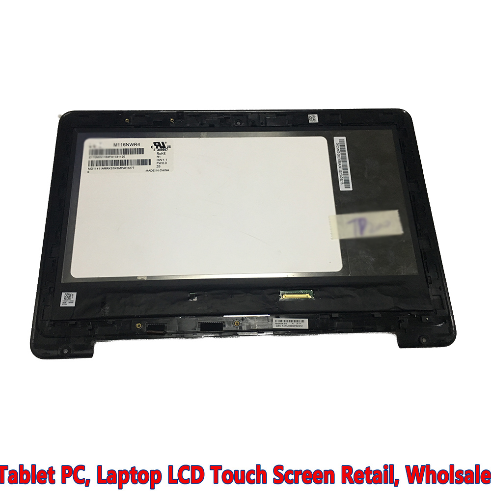 11.6 LCD touch screen digitizer + bezel M116NWR4 tablet for ASUS conversion flip book TP200 TP200S TP200SA screen replacement ноутбук трансформер asus book flip tp200sa fv0108ts 90nl0081 m03510