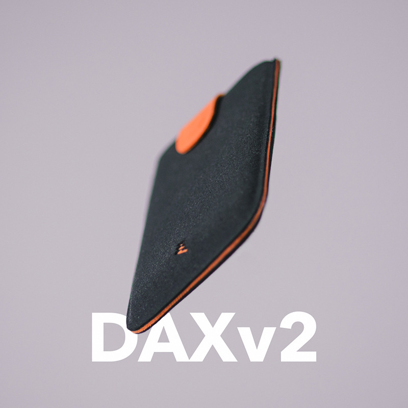 DAX V2 Leather Card Holders Mini Slim Portable Pulled Design Men Card Wallet Gradient Color 5 Cards Money Short Women Purse New recliner