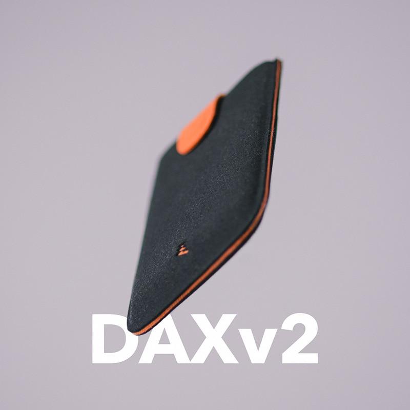 2018 Nuovo Arrivo DAX V2 Mini Slim Portatile Supporti di Carta Tirato Uomini di disegno Del Raccoglitore Sfumatura di Colore 5 Carte Denaro A Breve Delle Donne Della Borsa