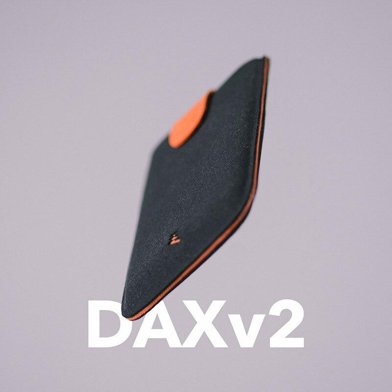 DAX V2 Titulares de Cartão de Couro Mini Magro Portable Puxado Homens do Projeto Carteira Cartão de Cor Gradiente 5 Cartões de Dinheiro Curto Mulheres bolsa de Nova