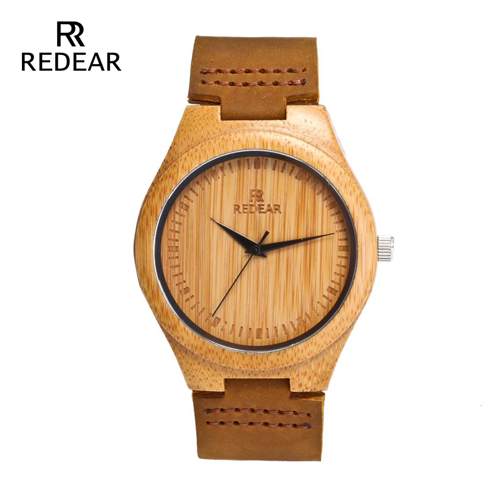 REDEAR Dropshipping Man Watch 2019 His-and-hers Watches For Men Handmade Quartz Wristwatch Real Leather Band Wedding Gifts