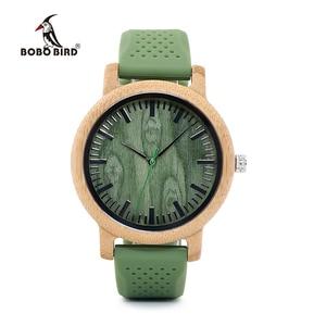 Image 2 - BOBO BIRD − montre bracelet en bambou, bracelet à Quartz, pour hommes et femmes, collection W B06