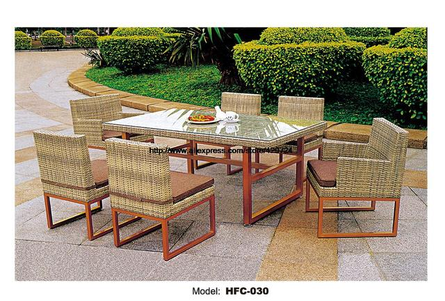 Modern Design Rattan Amrrest Chair No Armrest Chair Stool Table With Glass Combination Garden Set Wicker Garden Chair Set