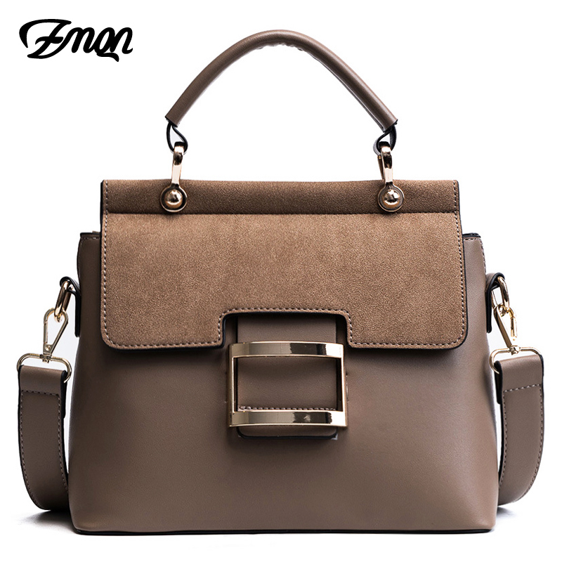 ZMQN Women Bag Vintage Shoulder Bags 2019 Buckle PU Leather Handbags Crossbody Bags For Women Famous Brand Spring Sac Femme C219