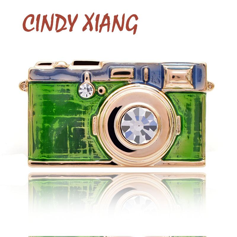 CINDY XIANG 3 Colors Choose Enamel Camera Brooch Fashion Badges Creative Brooches For Women And Men Unisex Pins Icon Kids Gift