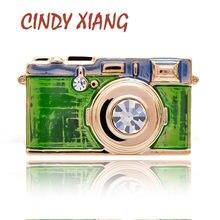 CINDY XIANG-broche de esmalte para cámara Unisex, 3 colores a elegir, insignias creativas de moda, regalo para niños