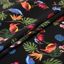 Freeshipping NEW Plant flower double crepe digital inkjet silk fabric, print satin floral cotton fabric dress katoen stof B539