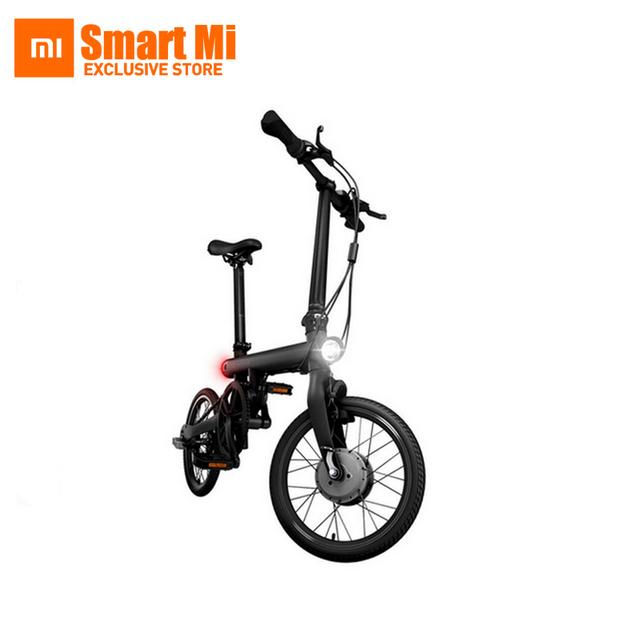 En la Acción! xiaomi mi qicycle 20 km/h plegable bluetooth 4.0 teléfono app monitor bicicleta eléctrica con 1.8 pulgadas de pantalla
