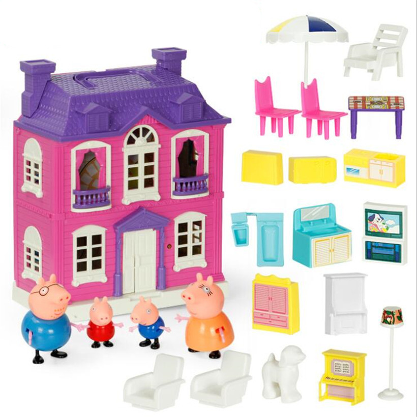Complete Series Original Peppa Pig Doll Fashion Family Roles Educational For Kids Action Figure Peppa Friends Model Gifts