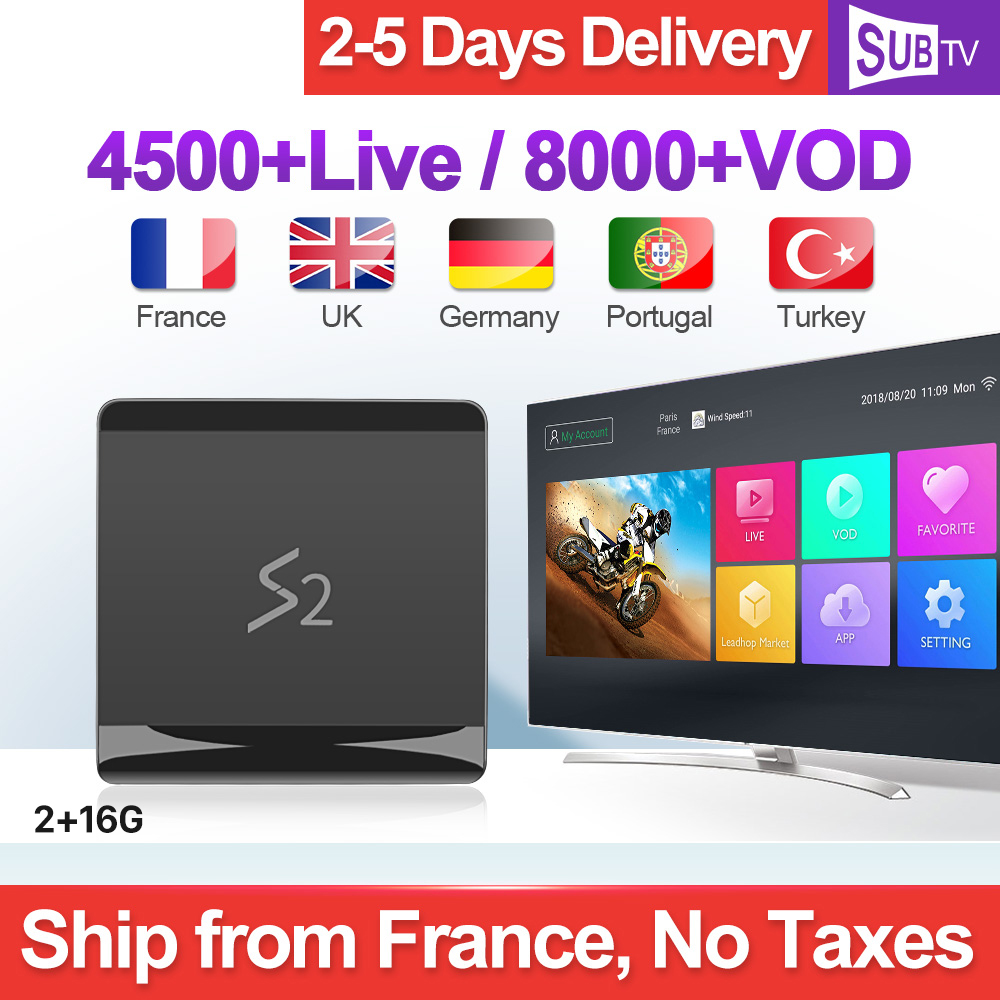 SUBTV Arabic France IPTV Italy Full HD S2 Android 8 1 2 16G RK3229 French Turkey
