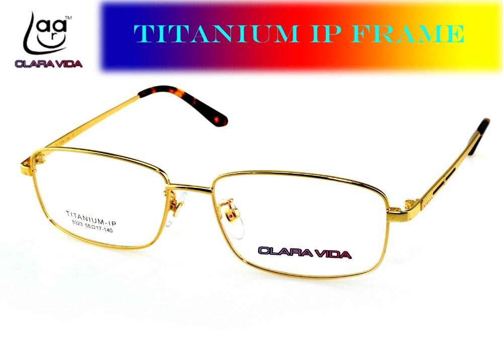 Custom made customized optical lenses Titanium IP full rim gold ...