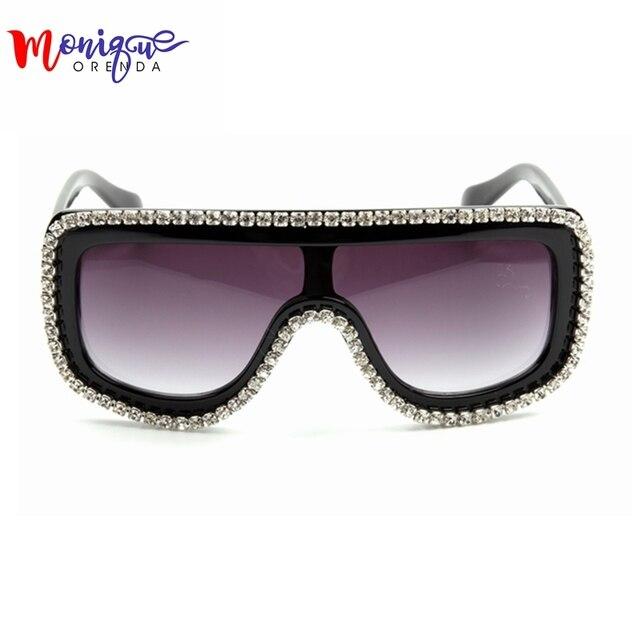 29e4fc632ce7 2016 New Fashion Sunglasses Woman Bling Rhinestone Oversized Sunglasses  Vintage Shades Ladies Big Sun Glasses Men s
