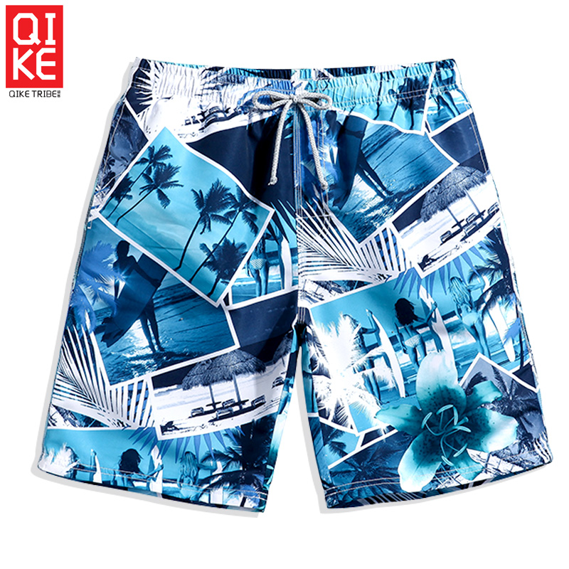 Swimming trunks Men's   Board     shorts   quick dry surfing plus size briefs hawaiian breathable plavky beach   shorts   printed mesh