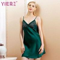 Brand Summer Women Silk Nightgowns 100% Mulberry Silk Nightdress Ladies sexy Sleepwear Female Sexy Silk dress Free Shipping