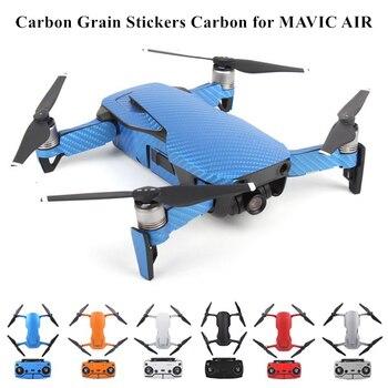 Wasserdicht Pvc Carbon Korn Grafik Aufkleber Full Set Haut Decals Für Dji Mavic Luft Drone Körper Arm Batterie Controller