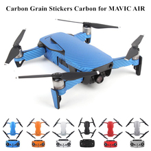 Wasserdicht PVC Carbon Korn Grafik Aufkleber Full Set Haut Decals für DJI MAVIC LUFT Drone körper & Arm & Batterie & Controller