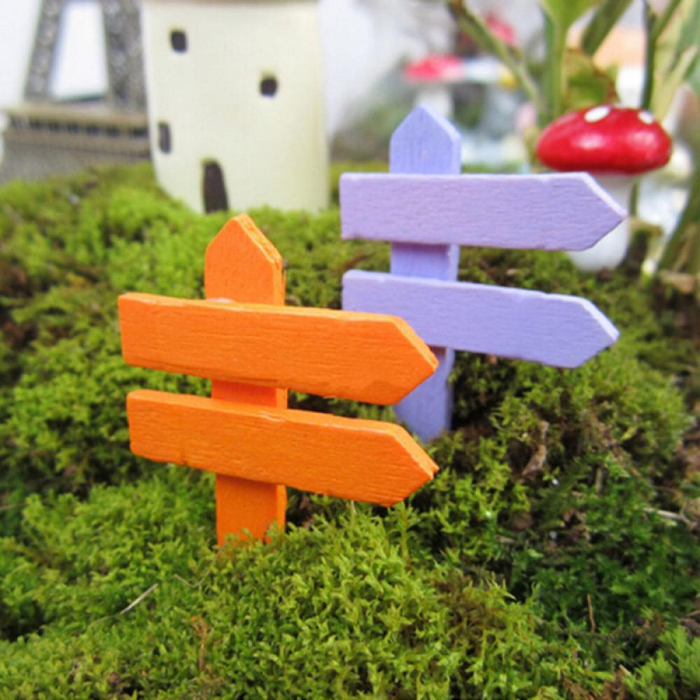 10 StÜcke Holzzaun Wegweiser Garten Ornament Diy Pflanze Etikett Töpfe Landschaft Decor Elegant Im Geruch