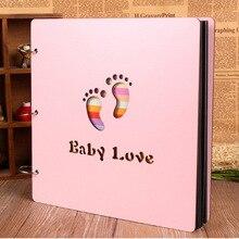 2018 фотоальбомы 12 дюймов Цвет деревянная крышка альбомы ручной работы с отрывными листами Вставить фотоальбом персонализированные детские любителей DIY фотоальбом